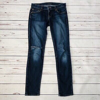 Lucky Brand Jeans Lolita Skinny Womens 0/25 Ankle Distressed Stretch Slim Leg