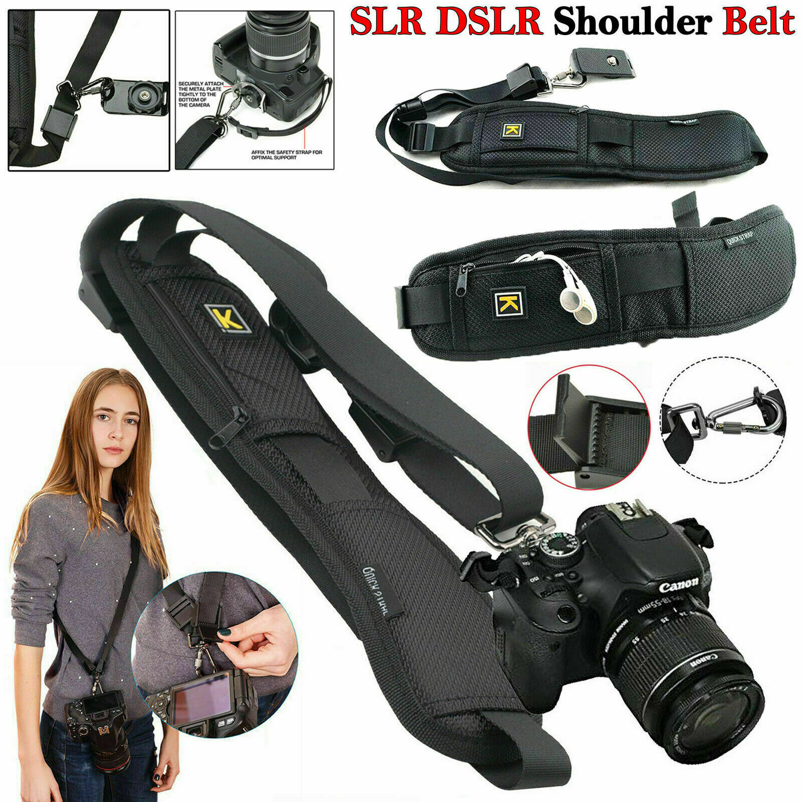Quick Sling Camera Single Shoulder Belt Strap Slr Dslr