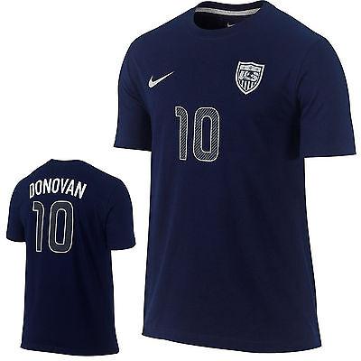 New Nike Mens Landon Donovan  10 Us Team Hero Soccer Shirt Fifa 659616 419 Navy