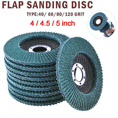 44.55 Metal Sanding Flap Disc Angle Grinder 40-120 Grit Abrasive Wheels Tools