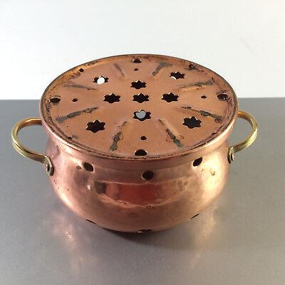 (e1) ZINT Stövchen Kupfer Vintage 50er 60er MID CENTURY Rechaud 11,5 cm