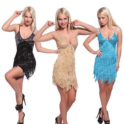 Women Sexy Deep V Fringed Flapper Dancing Dress 8 Tier Tassel Charleston Costume - Flapper Costume For Women