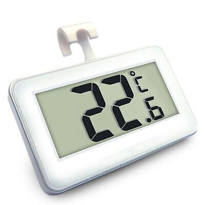 Termómetro de nevera LCD digital resistente al agua Termómetro de nevera blanco