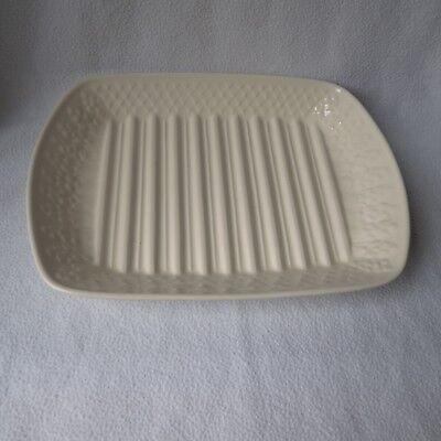 Schramberg schöne alte große Spargelplatte Servierplatte Spargel-Platte creme