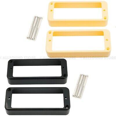 (2) Wilkinson Mini Humbucker Mounting Rings, P90 Sized w/ Screws BLACK or CREAM Humbucker Mounting Ring Screws