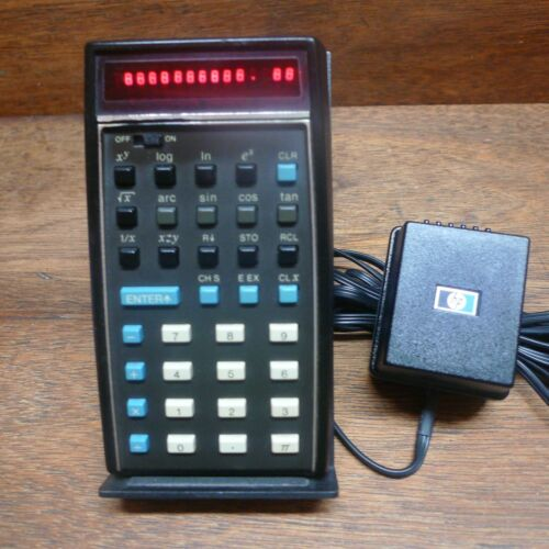 HP-35 V2 WITH 2.02 BUG RARE VINTAGE CALCULATOR WORKS PERFECTLY