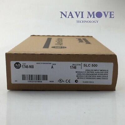 New Factory Sealed Allen Bradley 1746-ni8 1746ni8 Slc 500 Analog Input Plc Usa