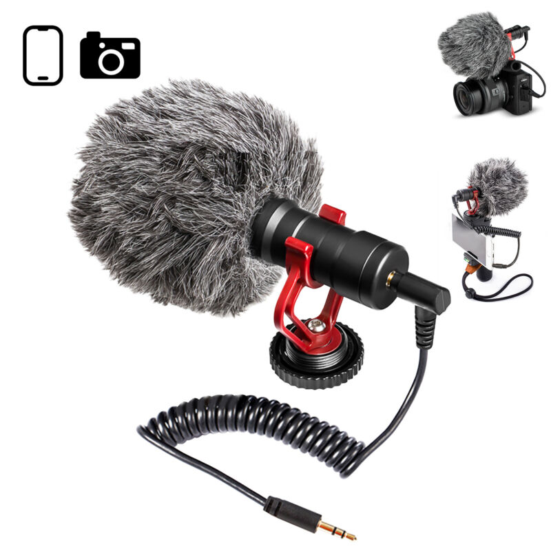Supercardioid Shotgun Microphone MIC Video For Smartphone DSLR Camera PC iPhone