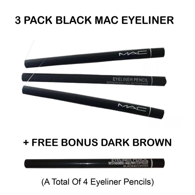 4 PACK - MAC Eyeliner Waterproof Pencil -Black - M.A.C. Retractable Eye Liner