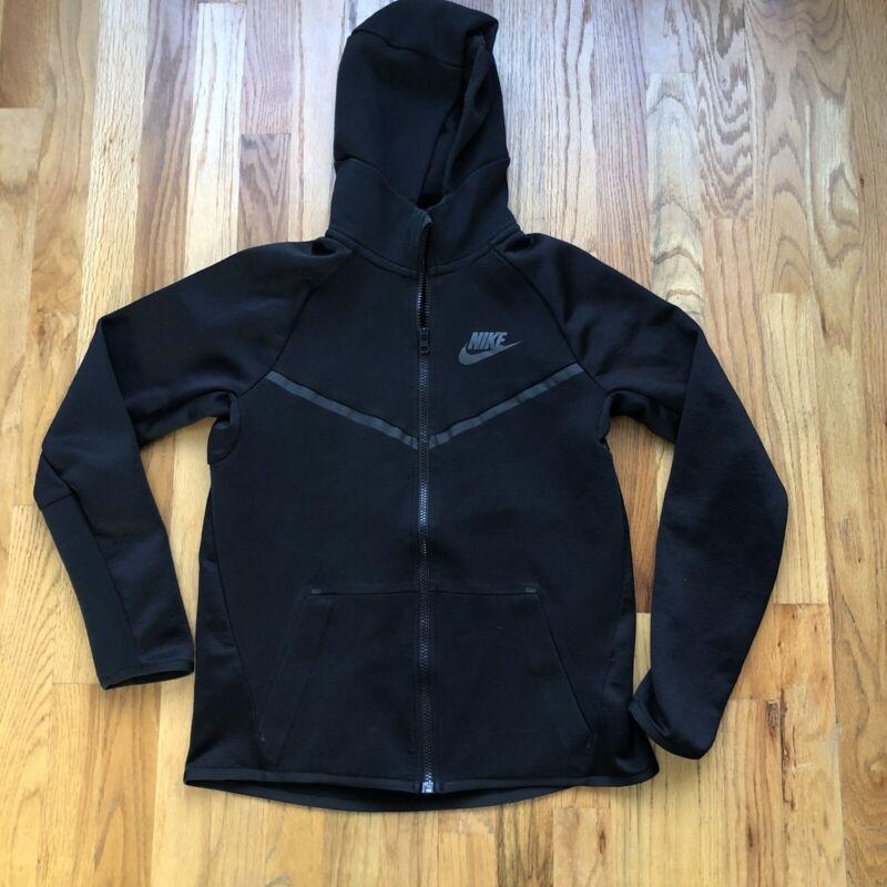 Nike Sportswear Tech Fleece Windrunner Black Zip Up Hoodie Sweatshirt Youth XL