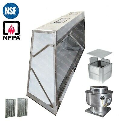 15 Ft Low Profile Restaurant Commercial Makeup Air Hood Captiveaire System