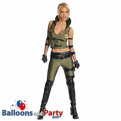 Womens Mortal Kombat Costumes (Women's Secret Wishes Mortal Kombat Sonya Blade Fancy Dress Party)