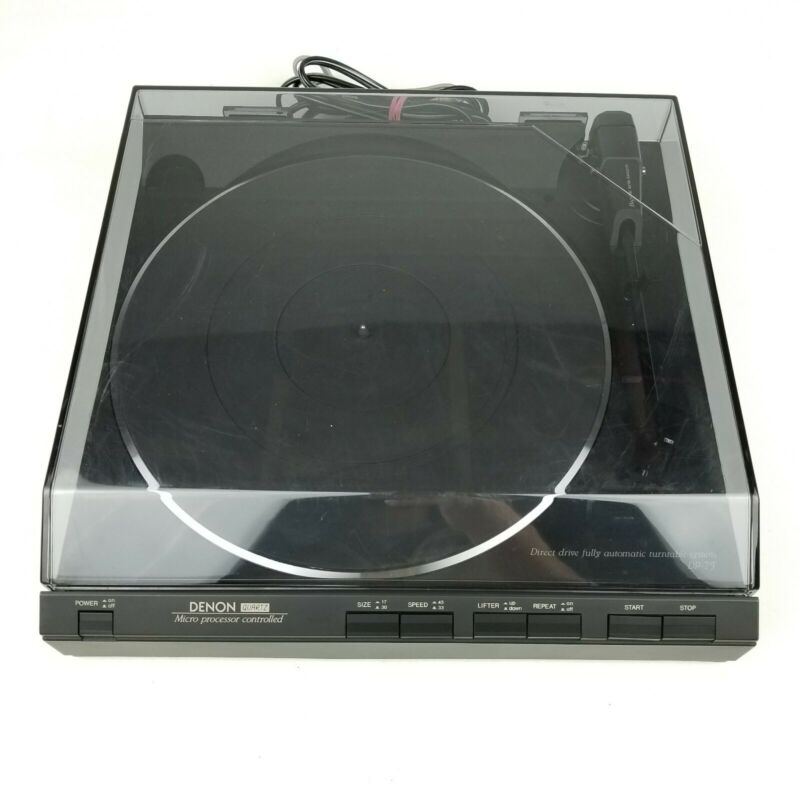 Denon DP-7F Record Player Direct Drive Fully Automatic Turntable System Tested