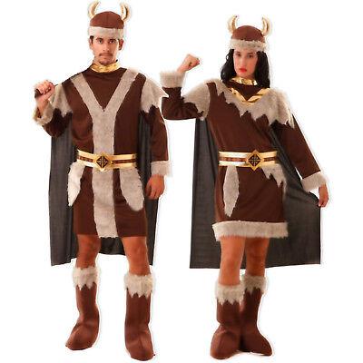 Historisches Wikinger Kostüm Damen Herren S M/L XL XXL Krieger Vikinger -