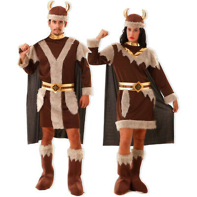 Historisches Wikinger Kostüm Damen Herren S M/L XL XXL Krieger Vikinger Fasching