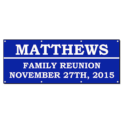 Family Reunion Welcome Custom Personalized Vinyl Banner Sign With Grommets](Family Reunion Banners)