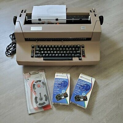 Ibm Correcting Selectric Ii Typewriter With Ink Ribbons Works Great Tested