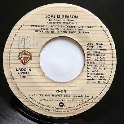 a-ha • Take on me / Love is reason • ULTRA RARE 45 • PANAMA PRESS 1985 MISPRINT