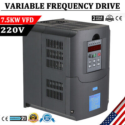 7.5kw 10hp 220v Variable Frequency Drive Inverter Cnc Vfd Vsd Single To 3 Phase