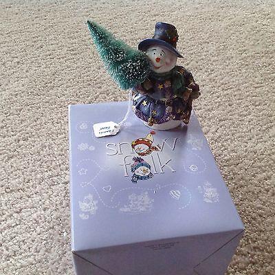 Snowfolk collectable snowman figure: Francis Frost-Winter Wonderland Name Snowman Winter Wonderland
