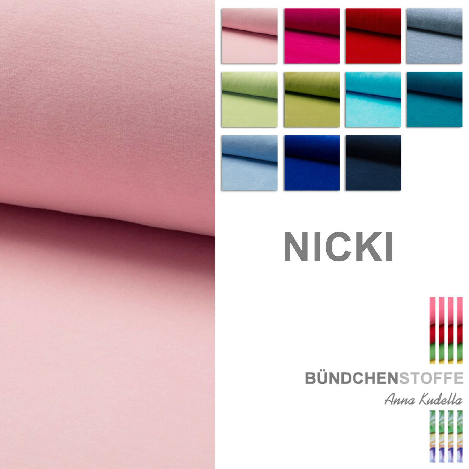Nicki Stoff Nicky Baumwollstoff Kinderstoffe weich Plüsch Softplüsch Ökotex