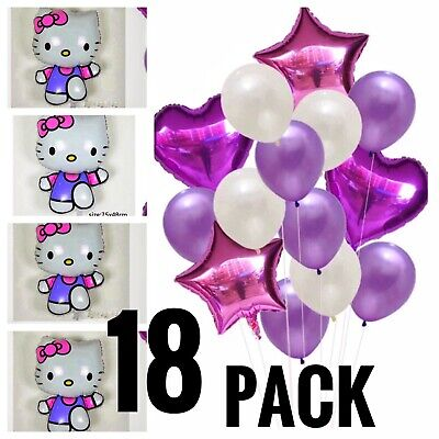 Hello Kitty Birthday Party Balloons foil latex pack  FREE SHIPPING](Kitty Birthday)