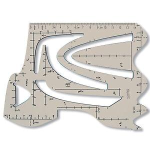 Schablone mathematische Funktionen Kurvenschablone mit Parabelfunktion Schule