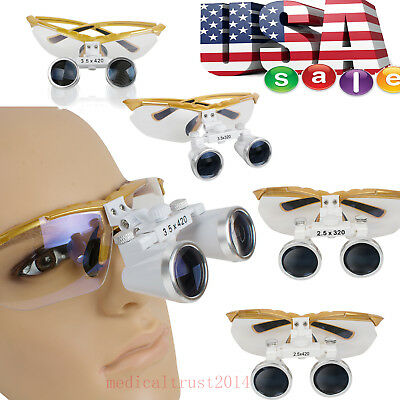 3.5x 2.5x Yellow Color Dental Surgical Binocular Loupes Magnifer Optical Glasses