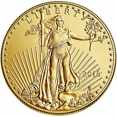 2016 - $5 1/10oz Gold American Eagle BU