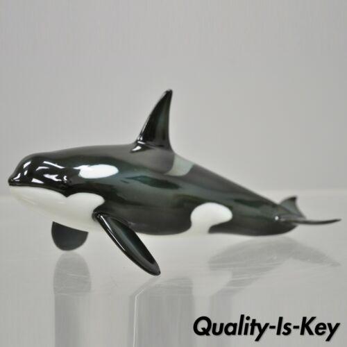 "Vintage Hutschenreuther 8"" Porcelain Killer Whale Orca Figurine Germany"