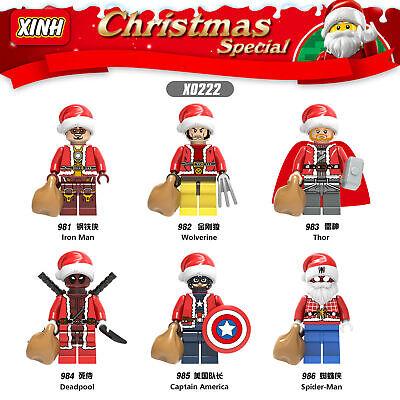 Baukästen Superhero Iron Man Wolverine Deadpool Captain America Weihnachten Mode ()