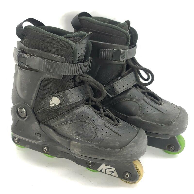K2 Fatty Pro Roller Blades Aggressive Inline Skates MENS SIZE 9 Black Grinding