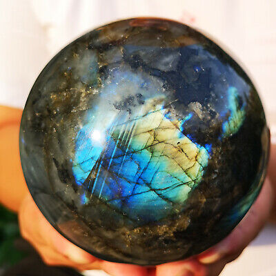 Rock Sphere - 4LB Natural labradorite sphere rock quartz crystal ball healing