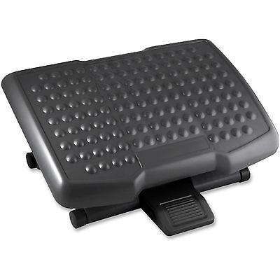 Lorell Footrest Adjustable Height Ergonomic Black 12818
