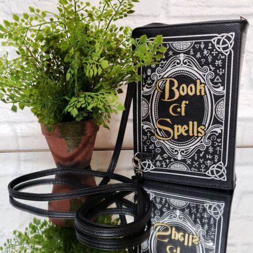 WITCH WEAR BOOK OF SPELLS Purse X-Body Bag Goth Halloween Cosplay Costume