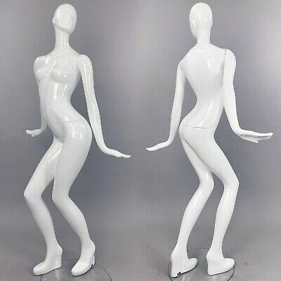 Patina V Mannequin Moves White Gloss Full Size Female W Head Modern Dance Mva2b