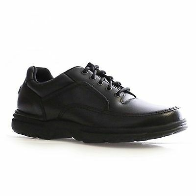 Men Rockport Eureka K71218 Black Metal Eyelets Lace Up Oxford Walking Shoes