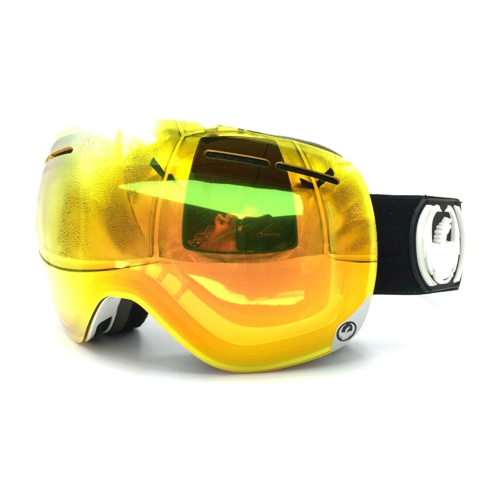 """Dragon Alliance X1S """"Inverse"""" Red Ion Ski Snowboard Goggles"""