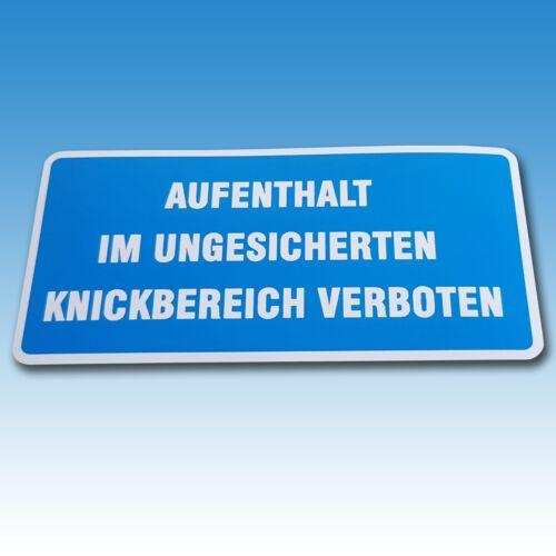 """Aufkleber """"Aufenthalt im ungesicherten Knickbereich verboten"""" Holder 015419 Foto 1"""