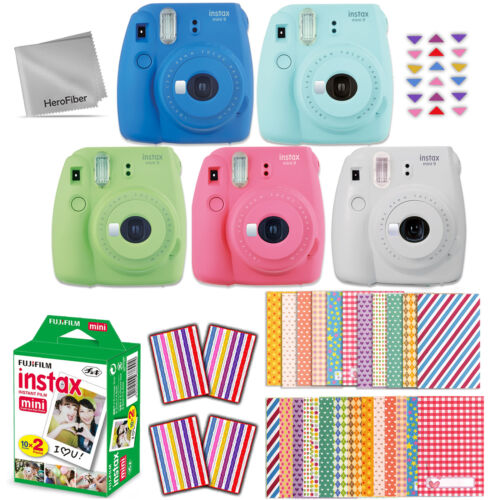 Fujifilm Instax Mini 9 Instant Camera + 20 Sheet Film + EMOJ
