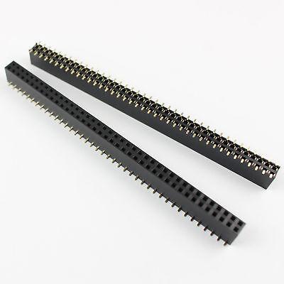 100pcs 2.54mm Pitch 2x40 Pin 80 Pin Female Double Dual Row Smt Pin Header Strip