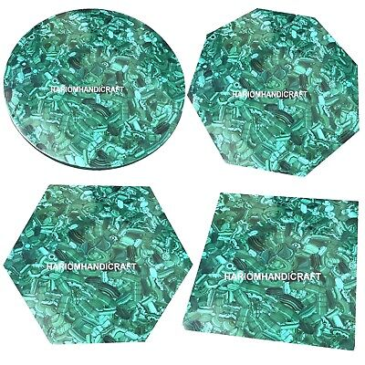 Random Malachite Marble Exclusive Console Table Top Mosaic Inlay Collectible Art