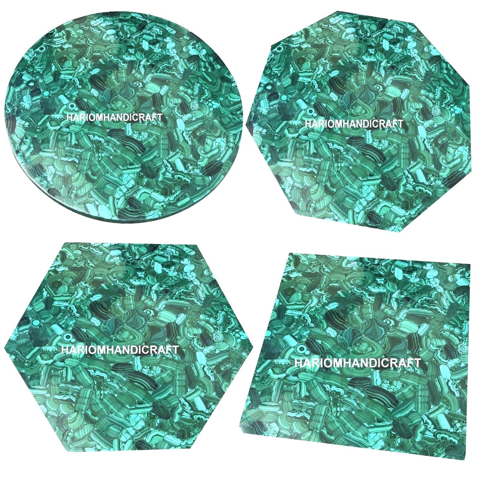 Random Malachite Marble Exclusive Console Table Top Mosaic I