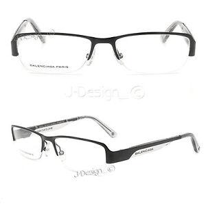 BALENCIAGA PARIS BAL0061 G05 Half-Rimless Eyeglasses-Made in Italy-New Authentic