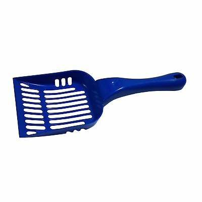 2 X LARGE PLASTIC PET FOOD GENERAL FOODS SCOOP SPADE SPOON MADE IN UK BLUE 27CM