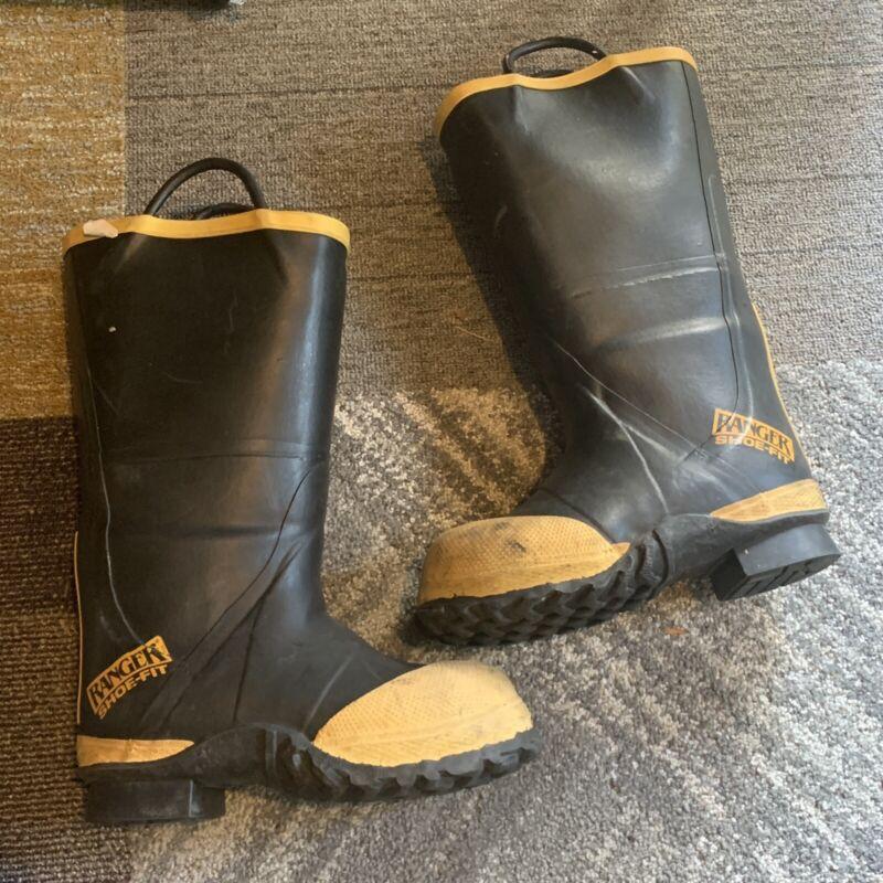 FireWalker Ranger Firefighter Turnout Rubber Boots Steel Toe Size 6 Medium USA