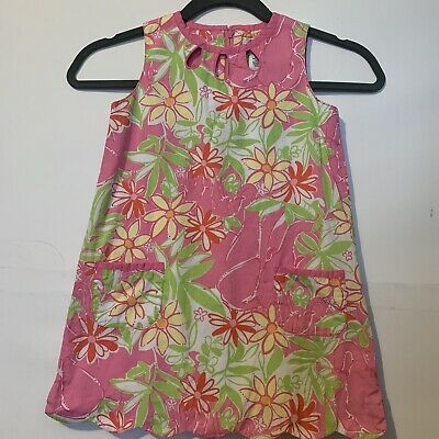 Lilly Pulitzer Girls Floral Keyhole Dress Size 5