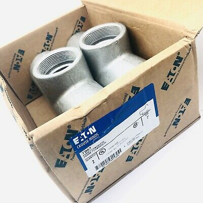 Crouse-hinds Tb67 Conduit Outlet Bodies Form 7 Condulet Series 2 Box Of 2