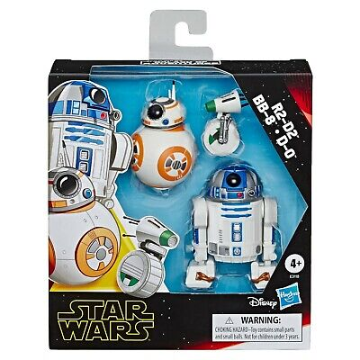 Star Wars Galaxy of Adventures Figure 3 Pack: R2-D2, BB-8 & D-0 - BRAND NEW