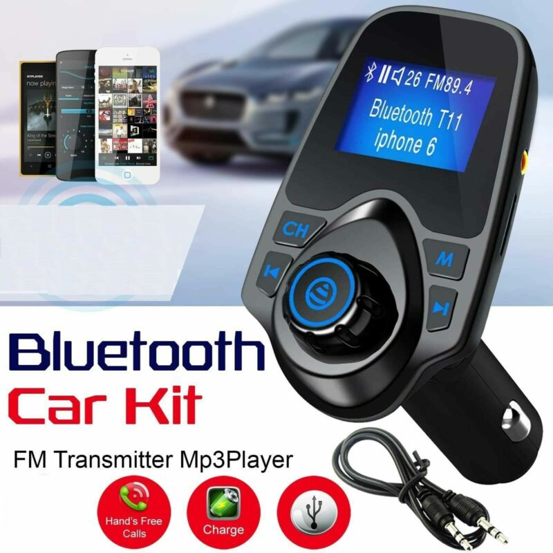Wireless Car FM Transmitter Radio Adapter USB Charger LCD MP3 Player Handsfree